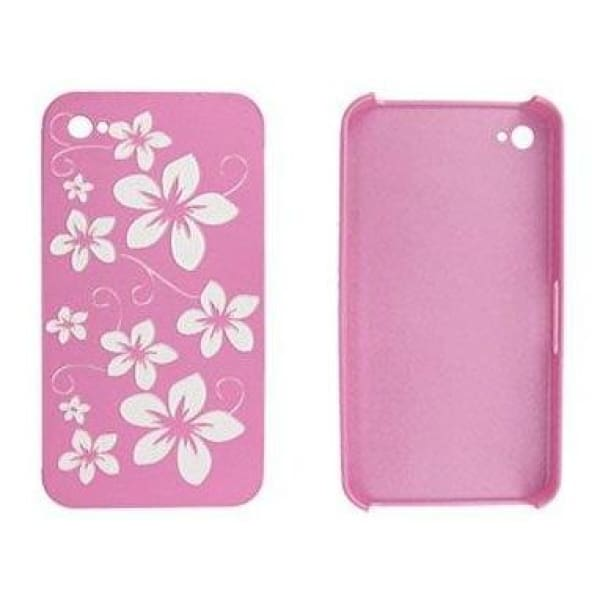 Snap-On Hard Back Cover Case for Apple Iphone 4 Pink D