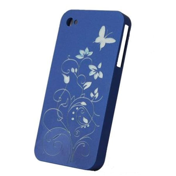 Snap-On Hard Back Cover Case for Apple Iphone 4 Blue i