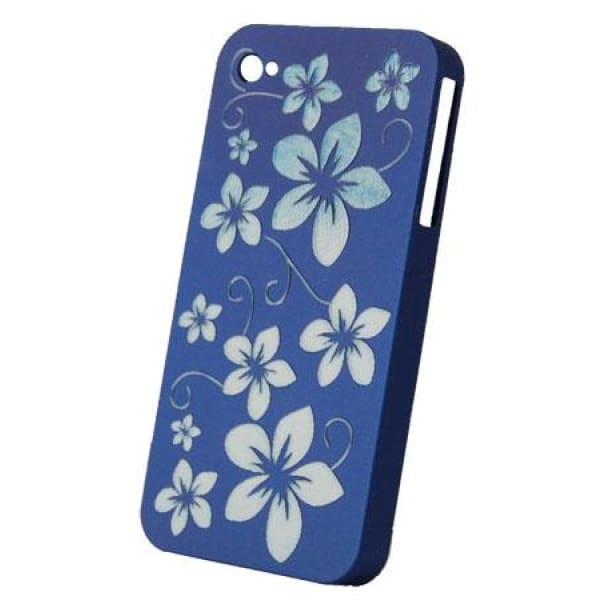 Snap-On Hard Back Cover Case for Apple Iphone 4 Blue J
