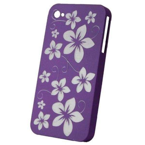 Snap-On Hard Back Cover Case for Apple Iphone 4 Purple L
