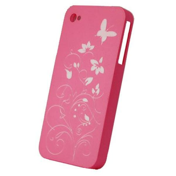 Snap-On Hard Back Cover Case for Apple Iphone 4 Pink N