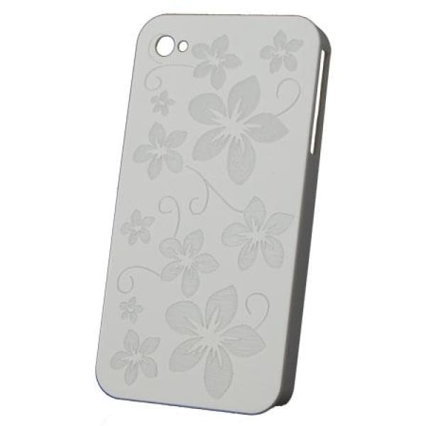 Snap-On Hard Back Cover Case for Apple Iphone 4 White P