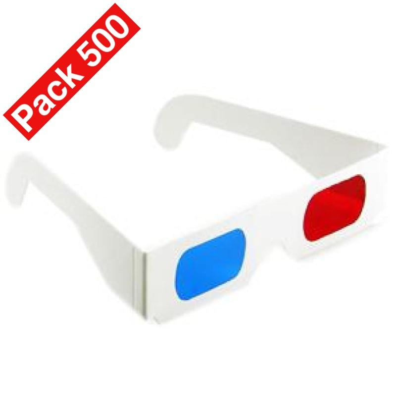 3D glasses with Red Cyan lenses and white paper frames