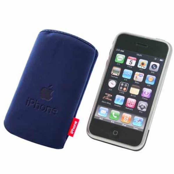 Dark Blue Soft Pouch Pocket Case for iPhone iPod Touch