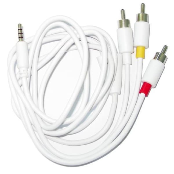 AV Audio Video + RCA Cable for iPod Zune iPhone 3G to TV