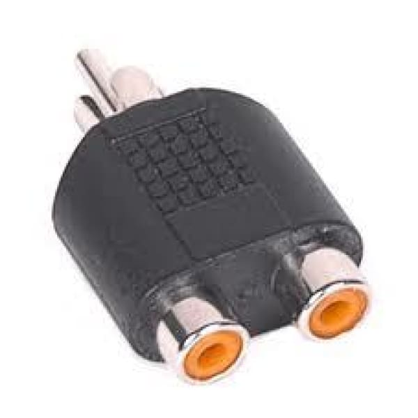 Single RCA plug to dual RCA jack adaptor