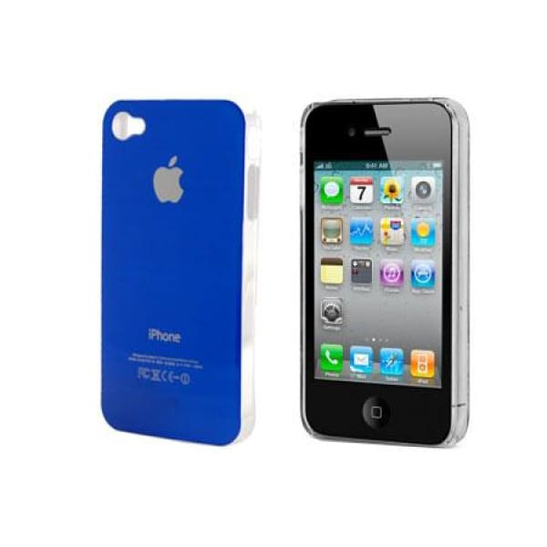 Blue Snap-on Hard Back Cover case Apple iPhone 4 4G