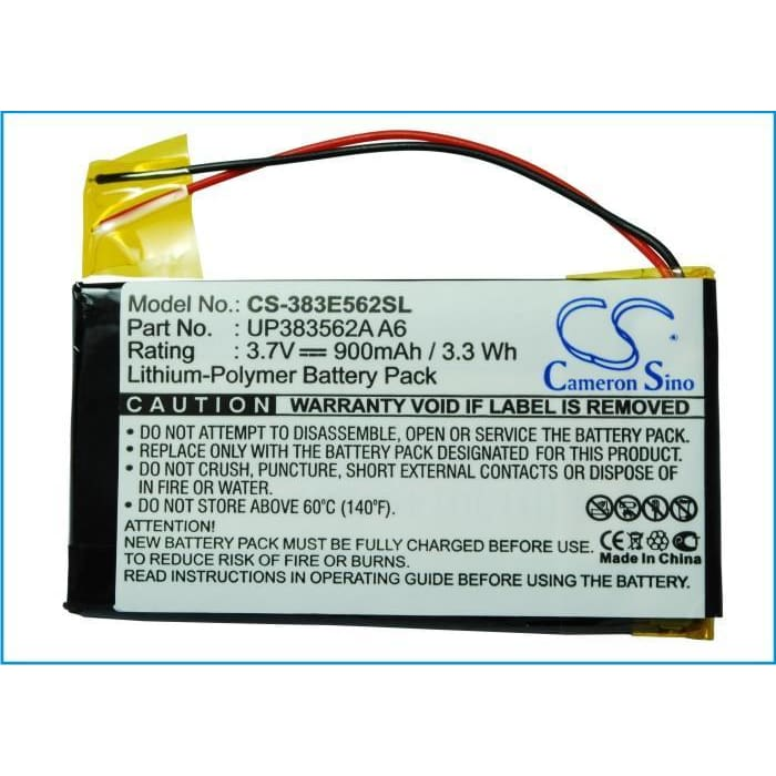 New Premium PDA/Pocket PC Battery Replacements CS-383E562SL