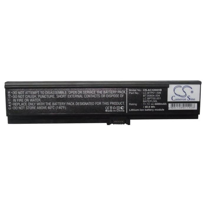 New Premium Notebook/Laptop Battery Replacements CS-AC3200HB
