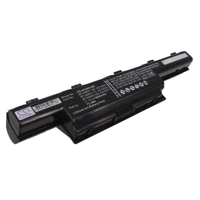 Premium Battery for Acer Aspire 4333, Aspire 4339, Aspire 4349 11.1V, 6600mAh - 73.26Wh