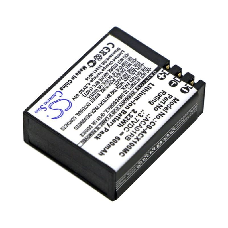 New Premium Camera Battery Replacements CS-ACX100MC