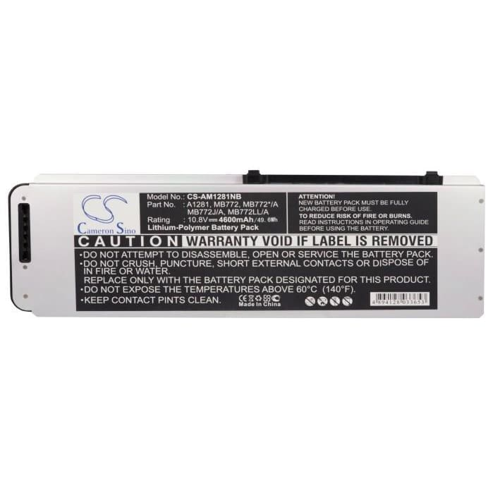 "Premium Silver Grey Battery for Apple Macbook Pro 15"" A1286, Macbook Pro 15"" Aluminum Unibody 2008 Version, Macbook Pro 15"" Mb470*/a 10.8V, 4600mAh - Li-Polymer"