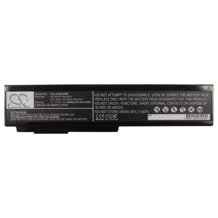 New Premium Notebook/Laptop Battery Replacements CS-AUB43NB
