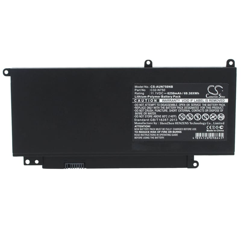 New Premium Notebook/Laptop Battery Replacements CS-AUN750NB