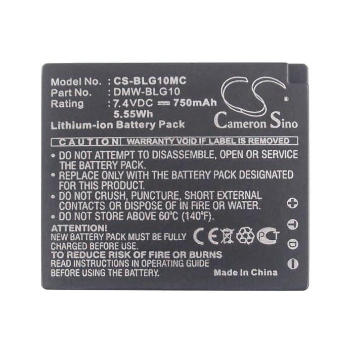 Premium Battery for Panasonic Lumix Dmc-gf6, Lumix Dmc-gf6k, 7.4V, 750mAh - 5.55Wh