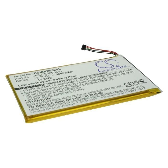 Premium Battery for Barnes & Noble Nook Color, Dr-nk02, Nook Tablet 3.7V, 3200mAh - 11.84Wh