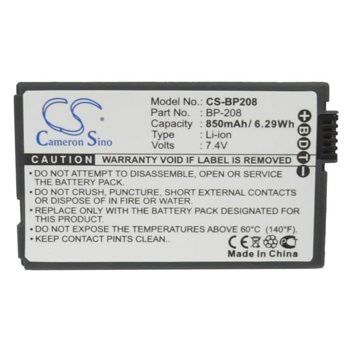 Premium Battery for Canon Dc10, Dc100, Dc20, Dc201, 7.4V, 850mAh - 6.29Wh