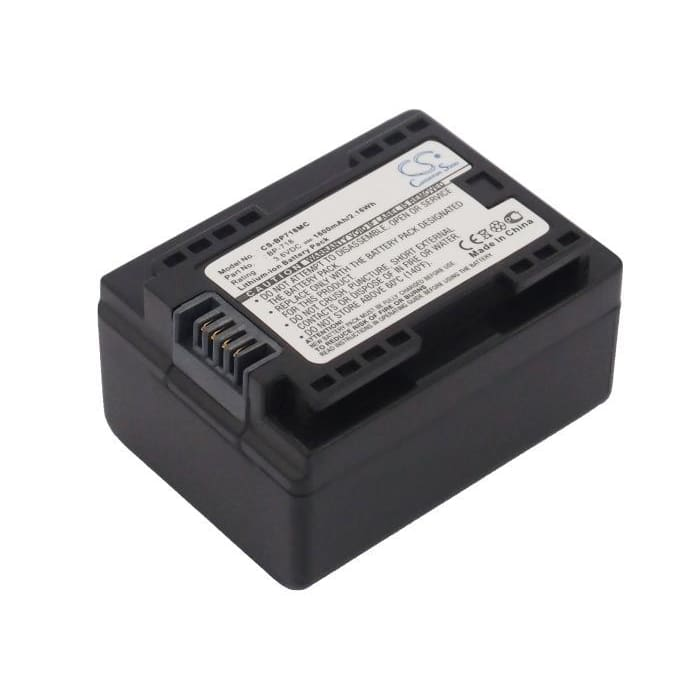 Premium Battery for Canon Ixia Hf M56, Ixia 3.6V, 1600mAh - 5.76Wh