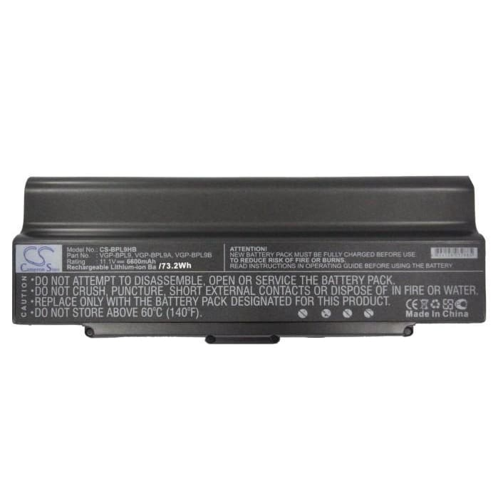 New Premium Notebook/Laptop Battery Replacements CS-BPL9HB