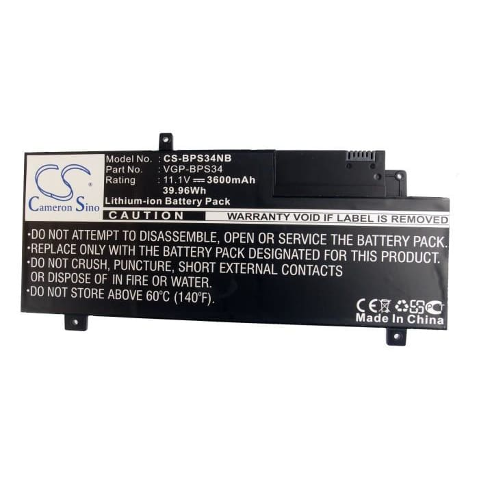 New Premium Notebook/Laptop Battery Replacements CS-BPS34NB