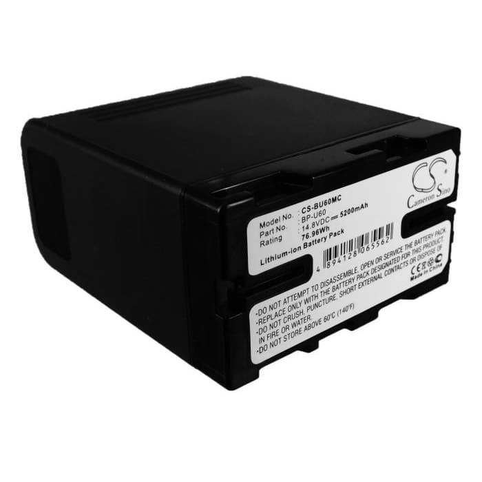 Premium Battery for Sony Pmw-100, Pmw-150, Pmw-160, Pmw-200, 14.8V, 5200mAh - 76.96Wh