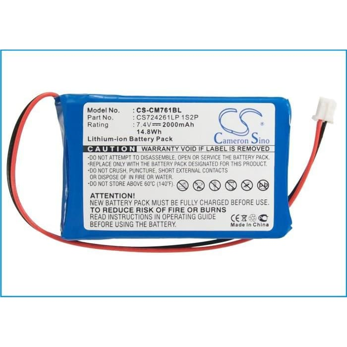 Premium Battery for Olympia Cm75, Cm760, Cm761 7.4V, 2000mAh - 14.80Wh