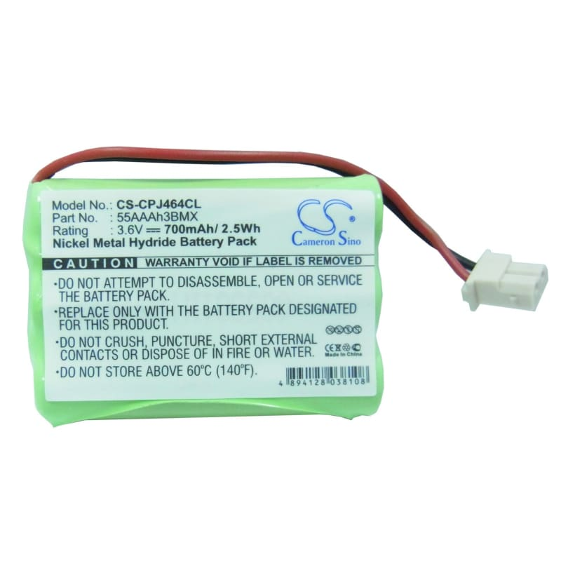 Premium Battery for Aastra, Be3850, Be3872, Mod B 3.6V, 700mAh - 2.52Wh