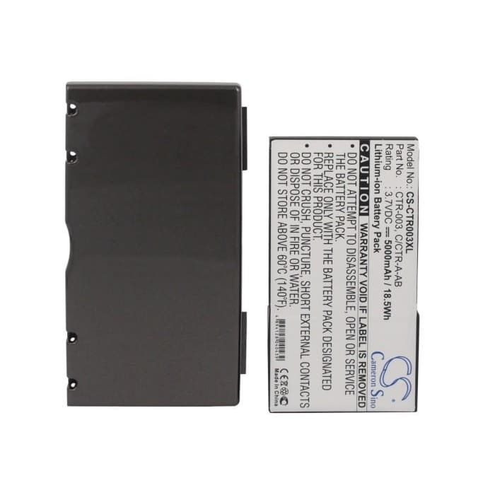 Premium Battery for Nintendo 3ds, N3ds, Ctr-001 3.7V, 5000mAh - 18.50Wh