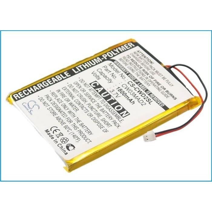 Premium Battery for Cowon D2 2gb, D2 4gb, D2 Plus 16gb 3.7V, 1800mAh - 6.66Wh