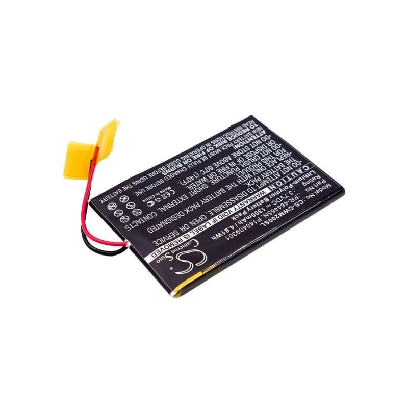 Premium Battery for Cowon, M2, M2 16g, M2 32g 3.7V, 1300mAh - 4.81Wh