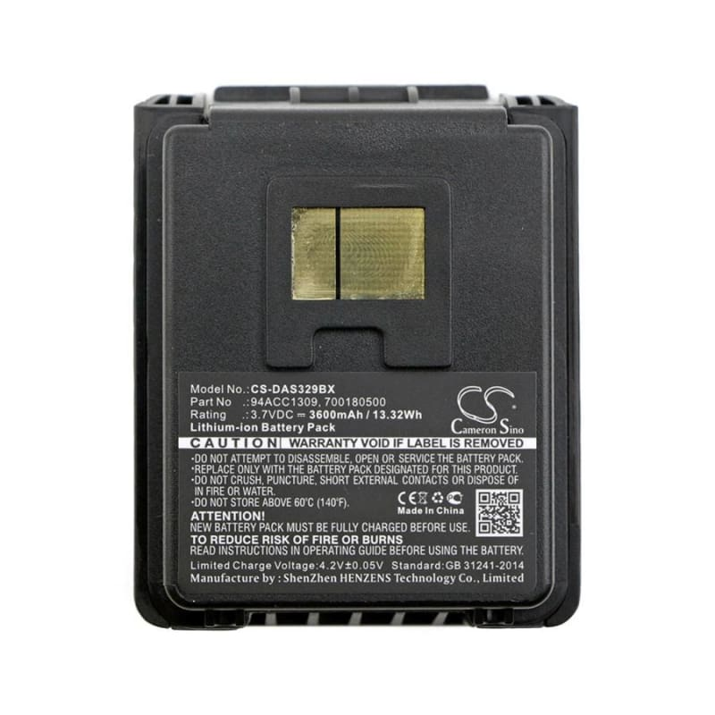 New Premium BarCode/Scanner Battery Replacements CS-DAS329BX