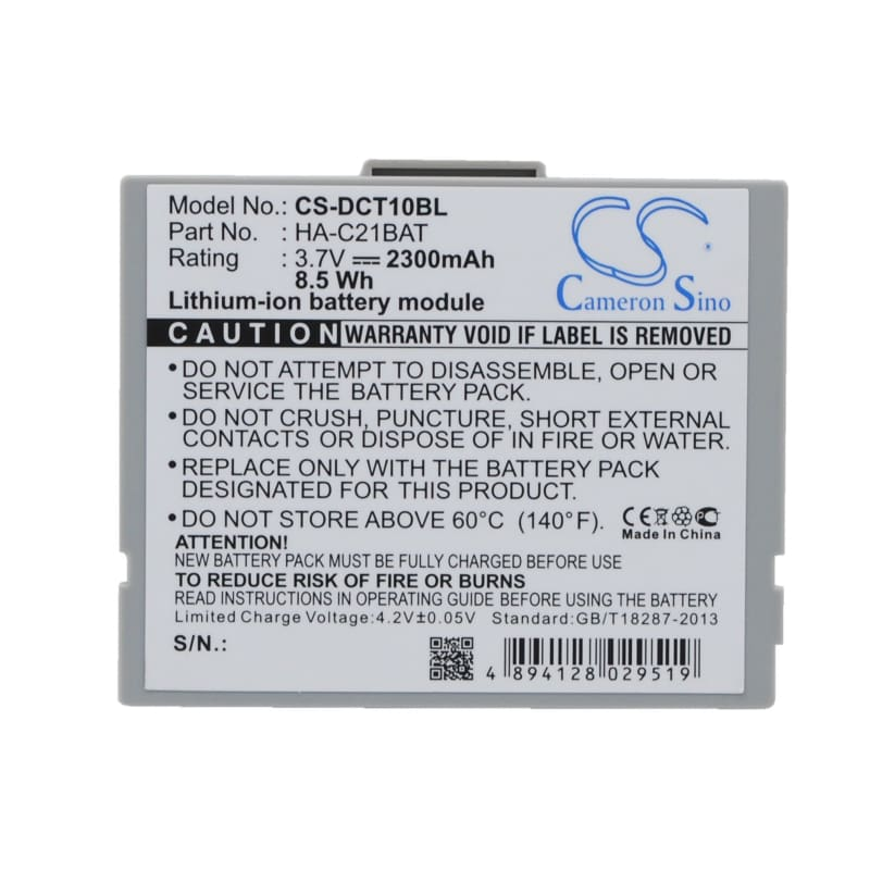 Premium Battery for Casio It10 3.7V, 2300mAh - 8.51Wh