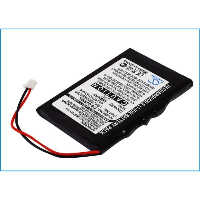 Premium Battery for Dell Jukebox Dj 5gb, Jukebox Hvd3t 3.7V, 950mAh - 3.52Wh