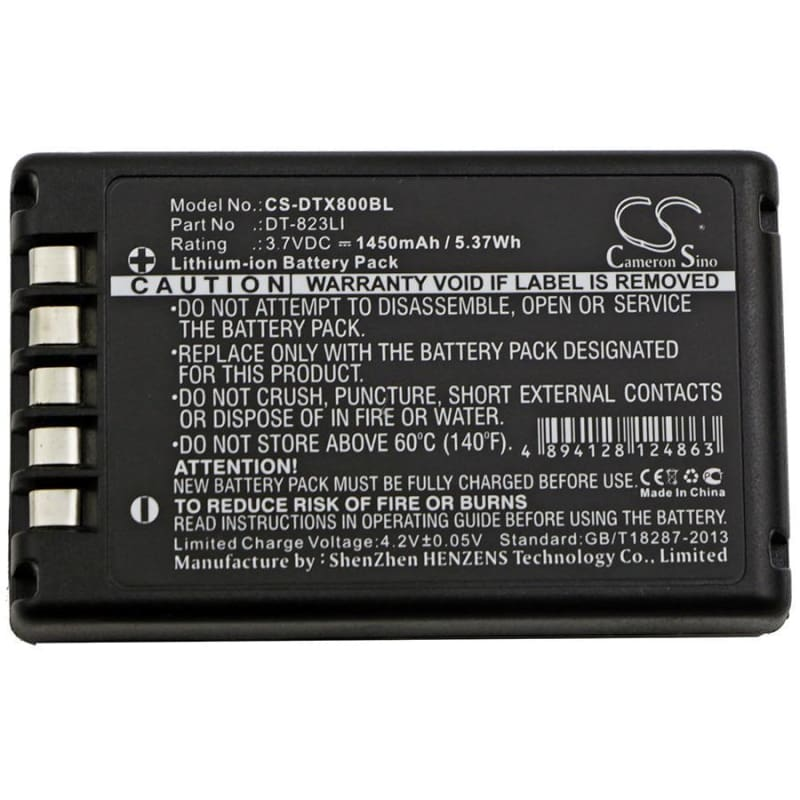 New Premium BarCode/Scanner Battery Replacements CS-DTX800BL