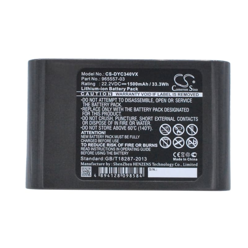 Premium Battery for Type B Only - Dyson Dc31 Animal, Dc34, Dc35 22.2V, 1500mAh - 33.30Wh