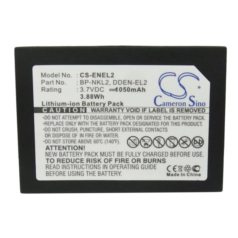 Premium Battery for Nikon Coolpix 2500, Coolpix 3500, 3.7V, 1050mAh - 3.89Wh
