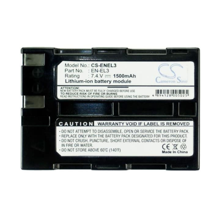 Premium Battery for Nikon D100, D100 Slr, D50, 7.4V, 1300mAh - 9.62Wh