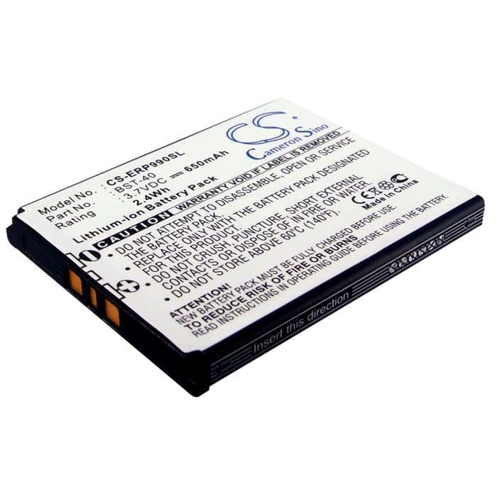 Premium Battery for Sony Ericsson P1, P1c, P1i 3.7V, 650mAh - 2.41Wh