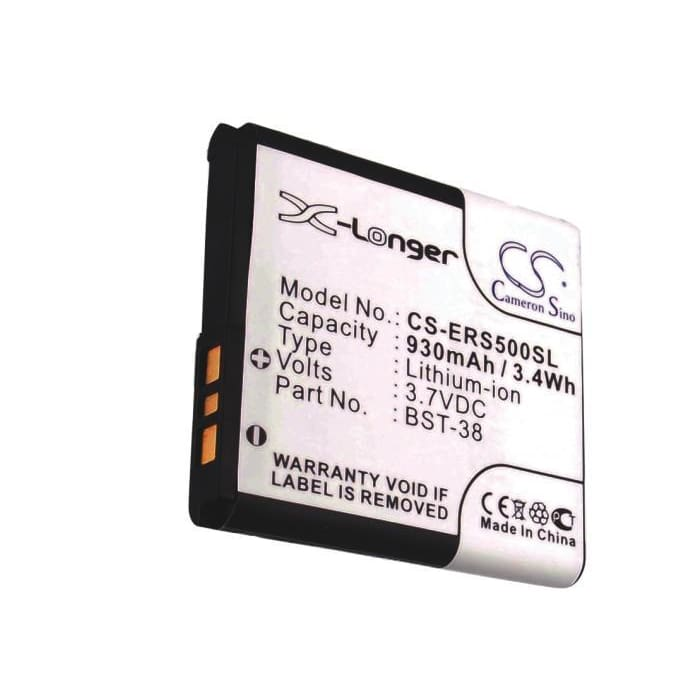 Premium Battery for Sony Ericsson W580c, K858c, K850i 3.7V, 930mAh - 3.44Wh