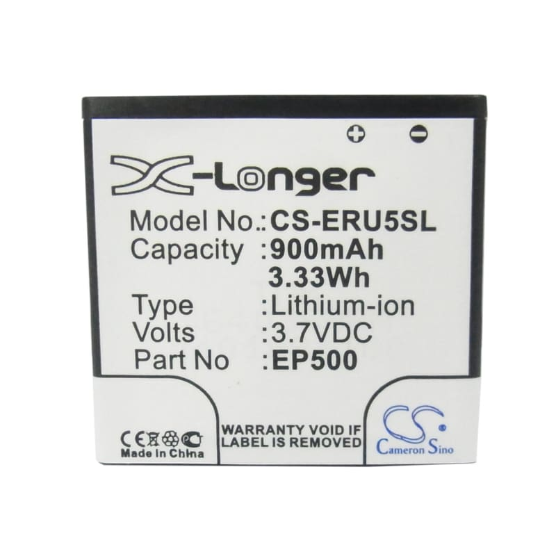 Premium Battery for Sony Ericsson U5, U5i Vivaz, U5i Cosmic 3.7V, 900mAh - 3.33Wh
