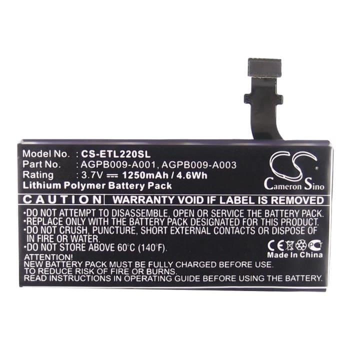 Premium Battery for Sony Ericsson Xperia P, LT22, LT22i 3.7V, 1250mAh - 4.63Wh
