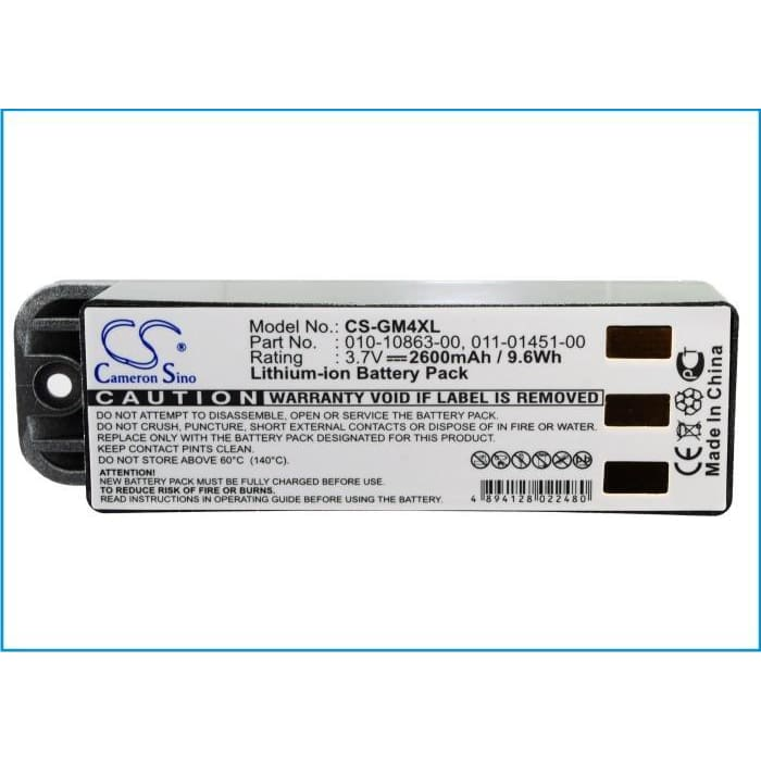 Premium Battery for Garmin Zumo 400, Zumo 450, Zumo 500 3.7V, 2600mAh - 9.62Wh
