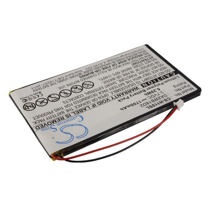 Premium Battery for Iriver H110, H120, H140 3.7V, 1700mAh - 6.29Wh