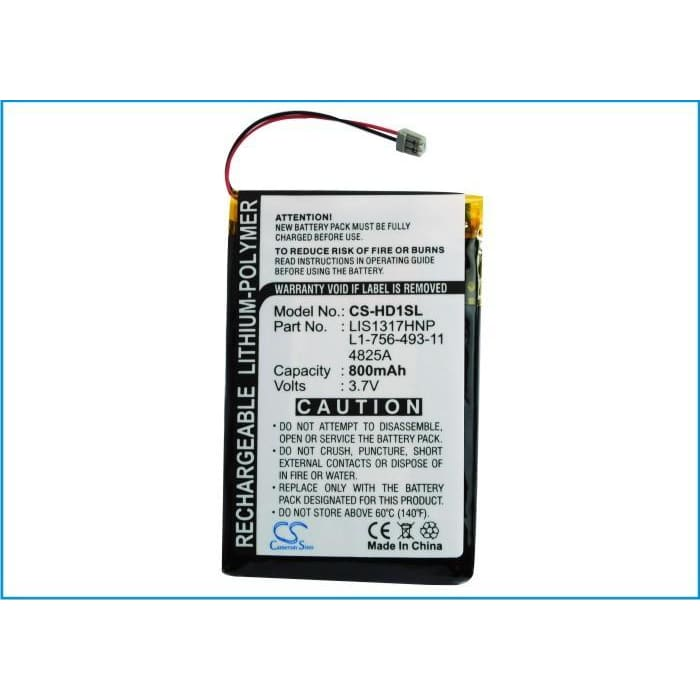 Premium Battery for Sony Nw-hd1 Mp3 Player 3.7V, 800mAh - 2.96Wh