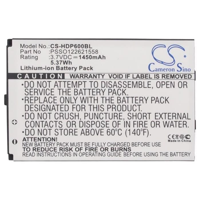 New Premium BarCode/Scanner Battery Replacements CS-HDP600BL
