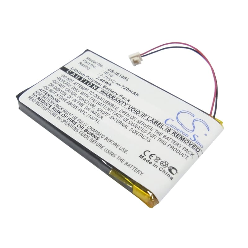 Premium Battery for Iriver E10, E10ct, Hdd Jukebox 3.7V, 720mAh - 2.66Wh