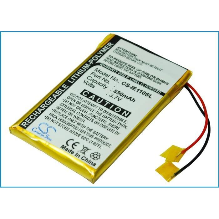 Premium Battery for Iriver E100, Rei-e100 (b) 3.7V, 850mAh - 3.15Wh