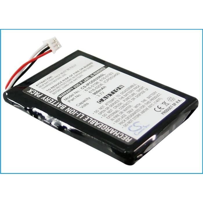 Premium Battery for Apple Ipod Photo, Photo 40gb M9585zr/a, Photo 40gb M9585ll/a 3.7V, 900mAh - 3.33Wh