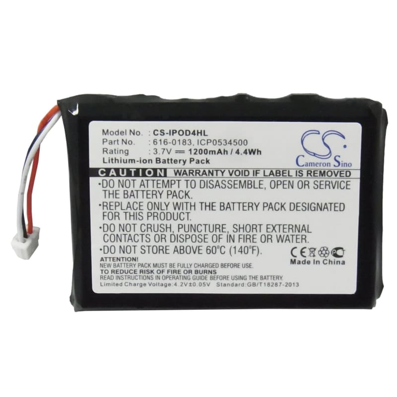 Premium Battery for Apple Ipod 4th Generatio, Ipod Photo, Photo 40gb M9585zr/a 3.7V, 1200mAh - 4.44Wh