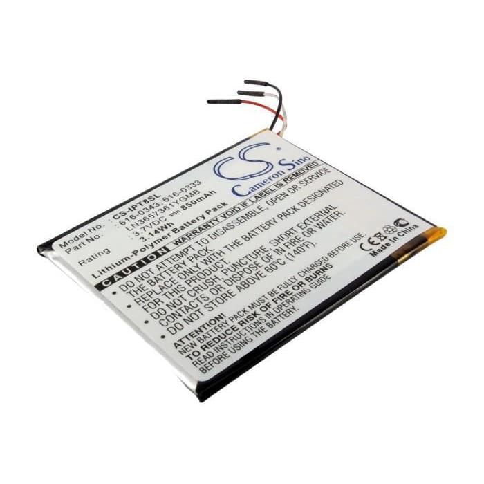 Premium Battery for Apple Ipod Touch 1st 4gb, Ipod Touch 1st 8gb, Ipod Touch 1st 16gb 3.7V, 850mAh - 3.15Wh